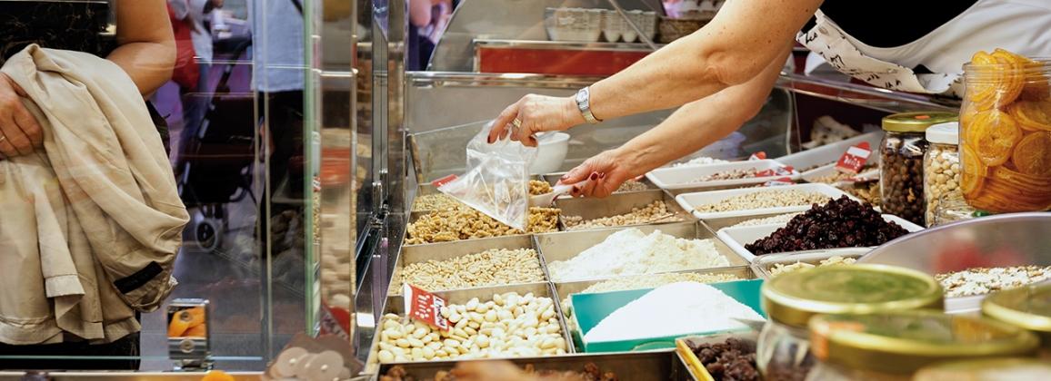 Establiment a un mercat de Gavà