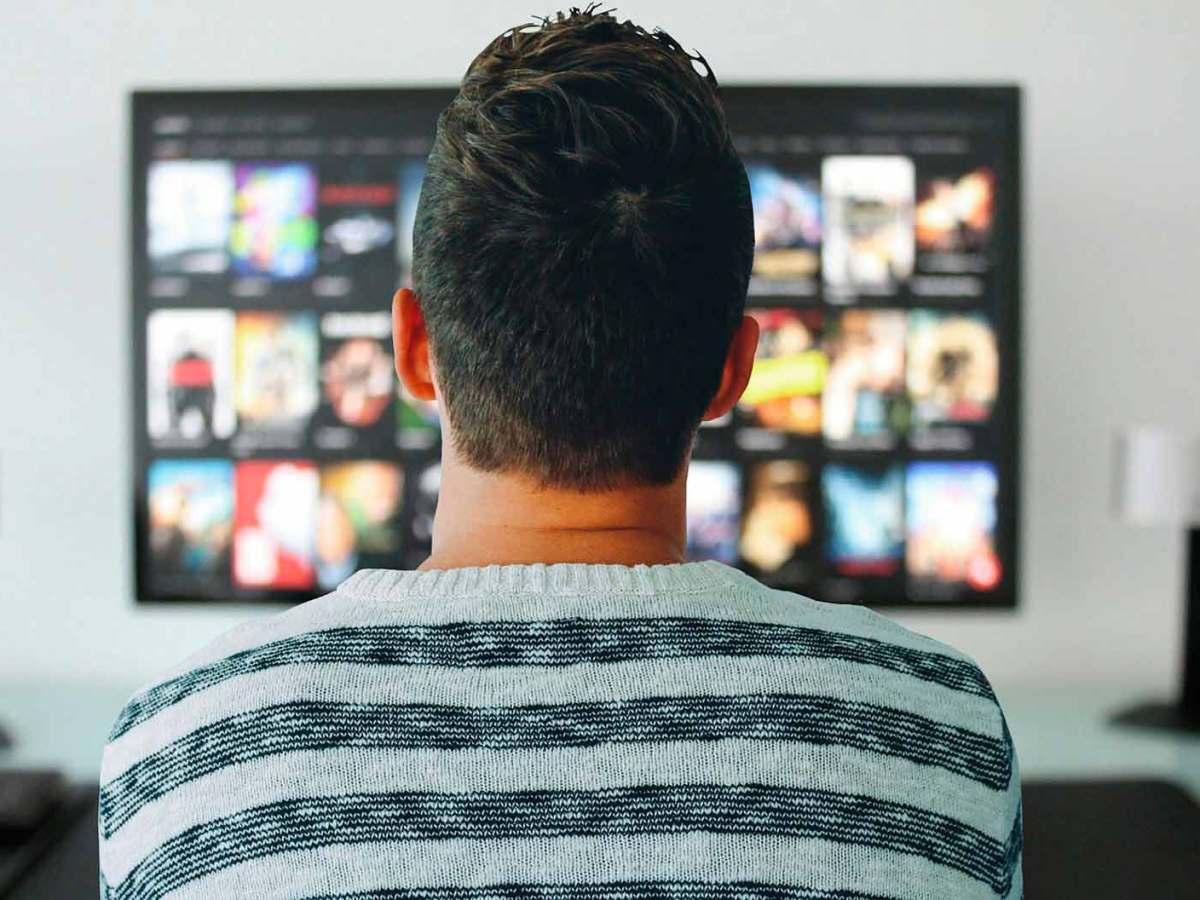 Un noi d'esquenes mira una pantalla.